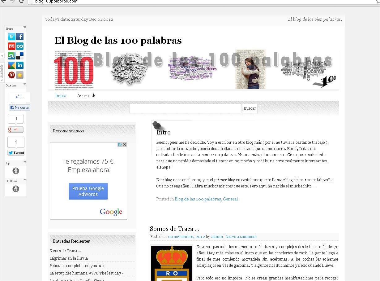 blog 100 palabras