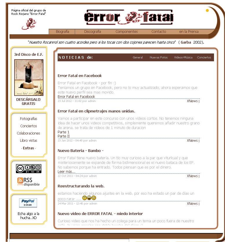 error fatal web riojawebs
