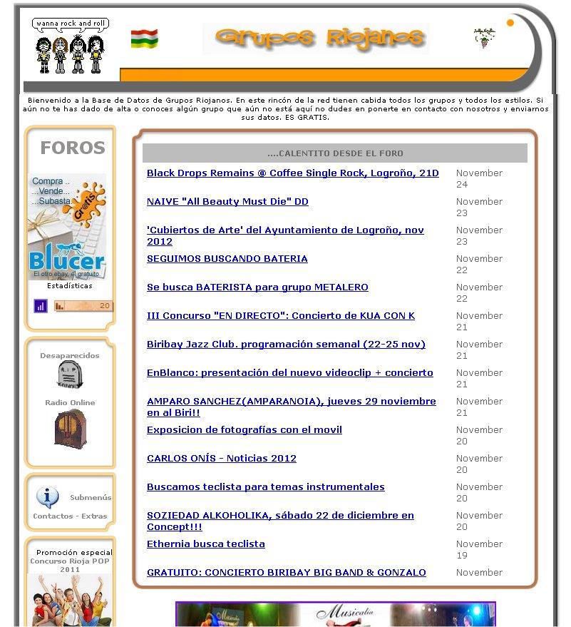 grupos riojanos web