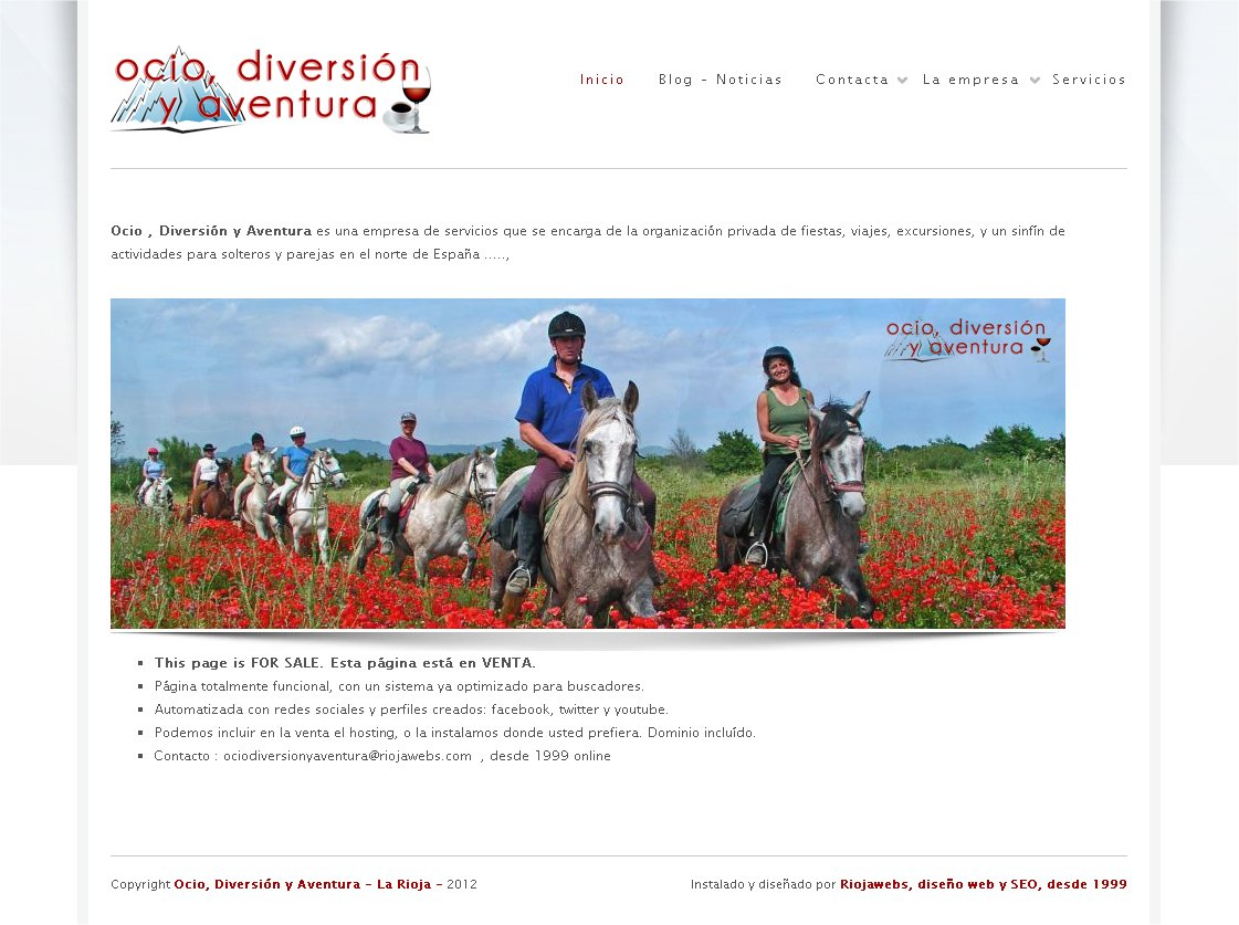 ocio diversion y aventura web