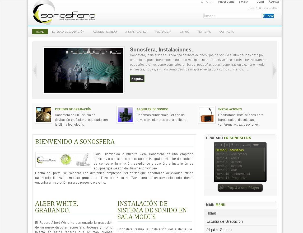 sonosfera web